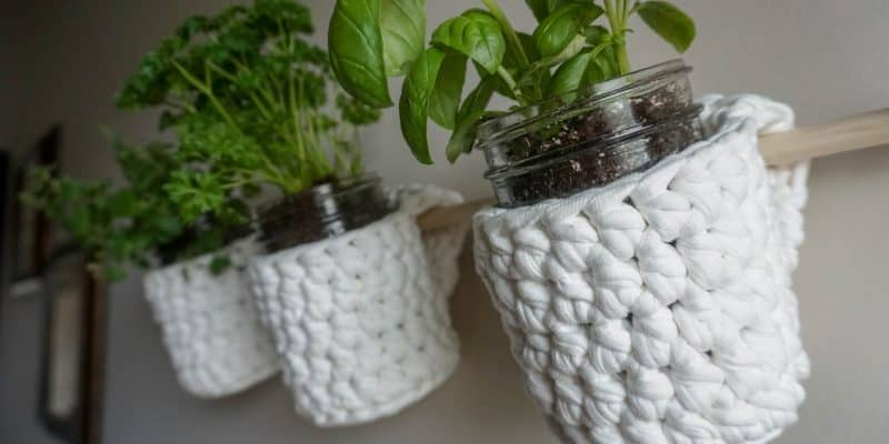 Hanging Herb Garden Crochet Pattern