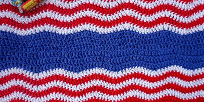 4th of July Patriotic Table Runner Free Crochet Pattern