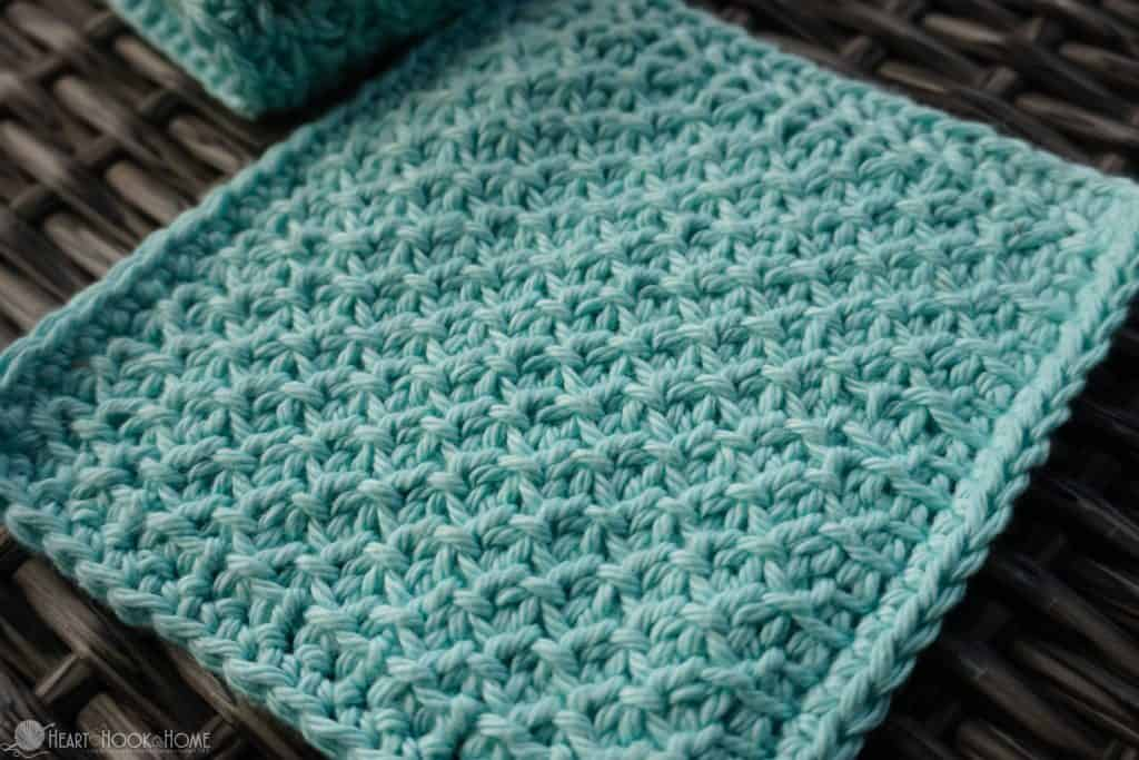 Face Cloth Crochet Pattern Tunisian Honeycomb stitch