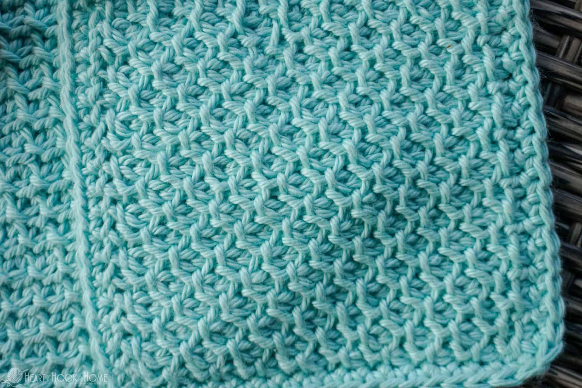 Tunisian Honeycomb Crochet Stitch Tutorial