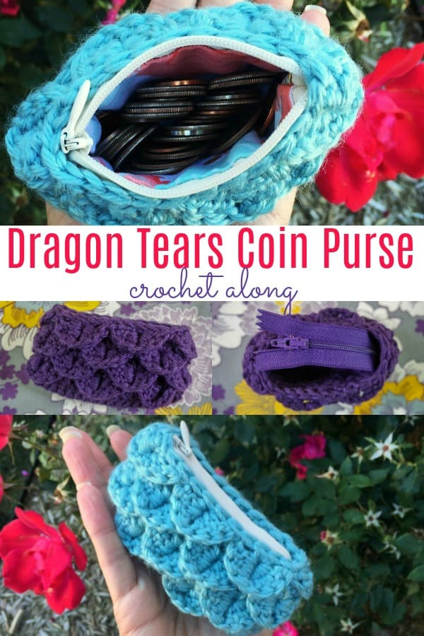 Dragon Tears Coin Purse Crochet Along CAL