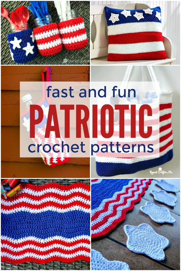 Fast and Fun Patriotic Crochet patterns
