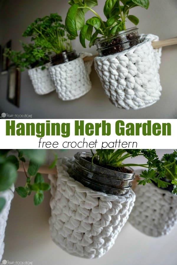 Hanging Herb Garden Free Crochet Pattern