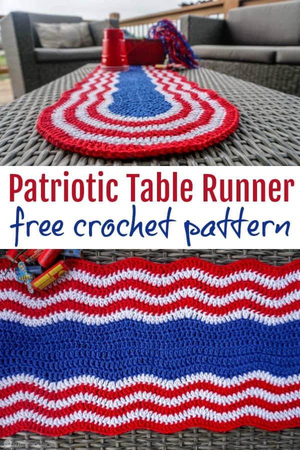Are you looking for something to jazz up your Memorial Day or 4th of July table spread this year? This Patriotic Table Runner free crochet pattern is perfect for your festive summer gatherings!