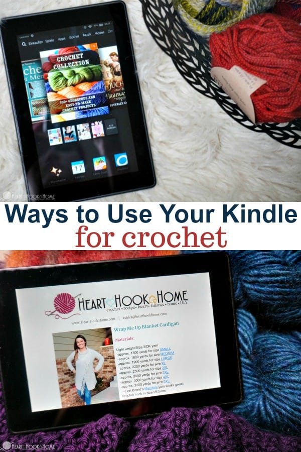 Ways to Use your Kindle for Crochet