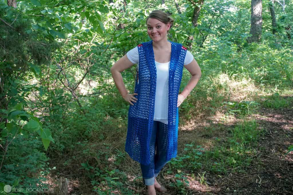 Sweet Summertime Hooded Vest Crochet Pattern