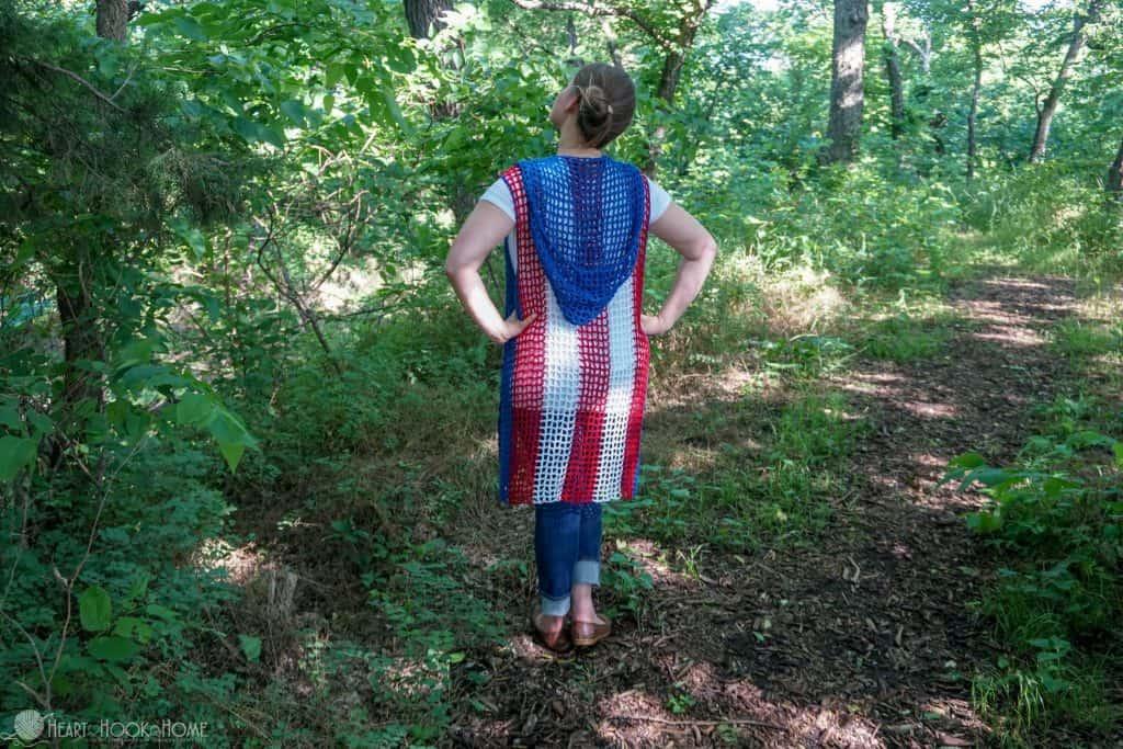 Sweet Summertime Hooded Vest Crochet Pattern
