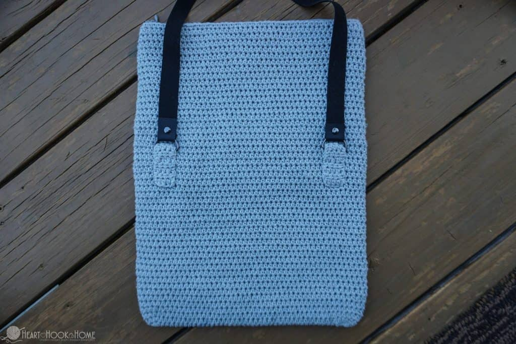 Foldover crocheted bag free pattern