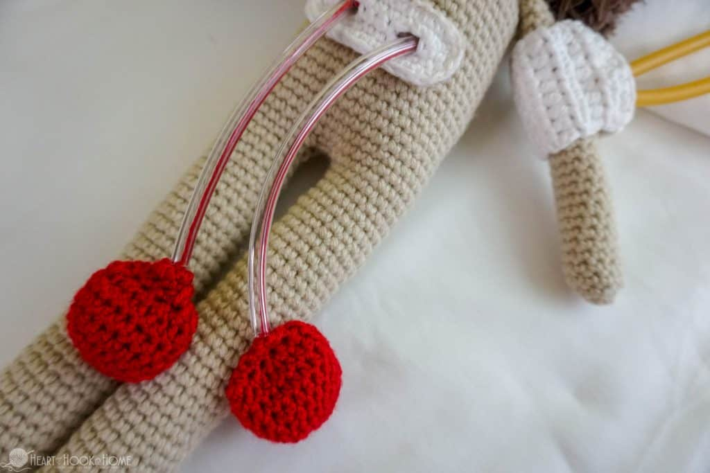 Crocheted heart doll