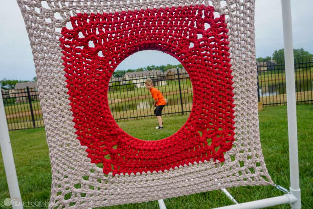 Free crochet pattern for kids target practice