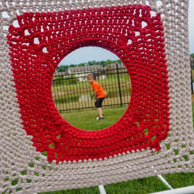 Crochet Target Practice for Baseball, Football