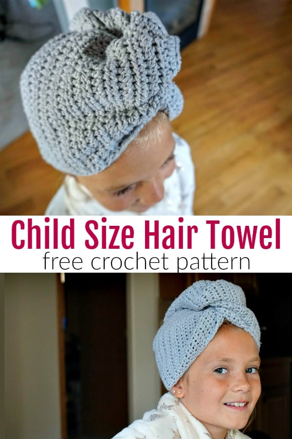 Child Size Hair Towel