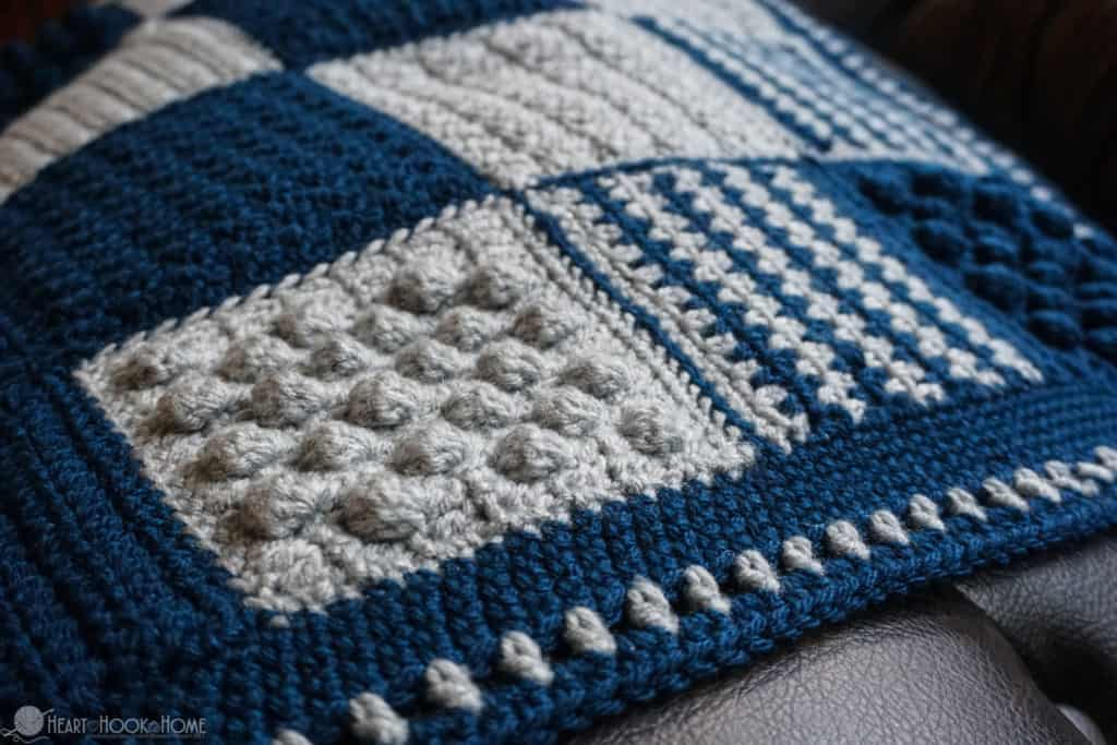 Stitch sampler baby blanket crochet pattern