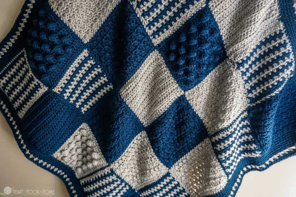 Fun and fast baby blanket crochet pattern