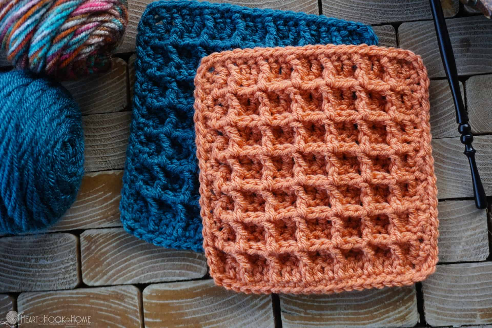 Waffle Stitch Tutorial Video And Written Instructions