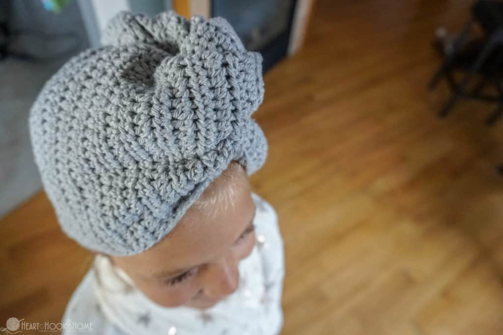 Child Size Hair Towel Free Crochet Pattern