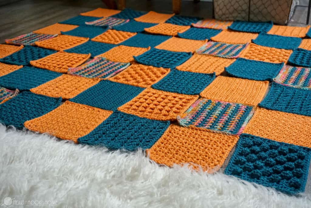 How to sew together crocheted squares