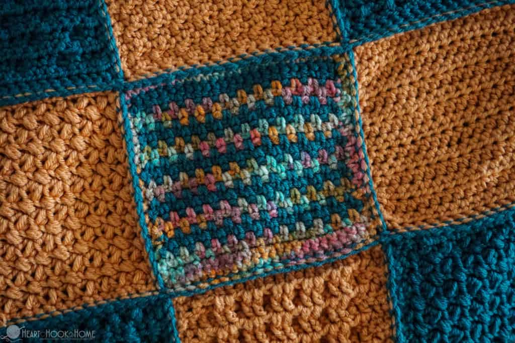 How to slip stitch crochet together