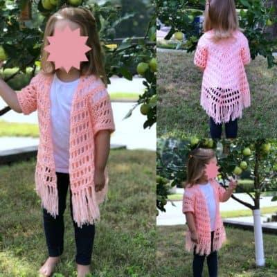 It's Shawl Good Crochet Pattern CHILD Size (2/3T)