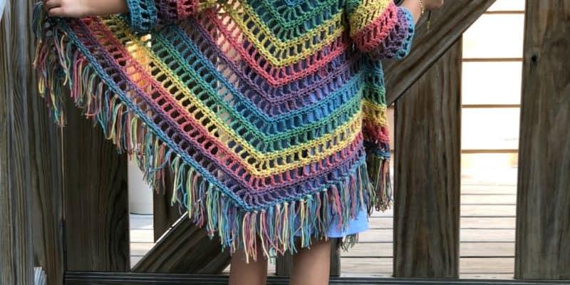 It's Shawl Good Crochet Pattern CHILD Size (4/6)