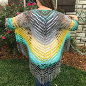 It's Shawl Good triangle shawl with sleeves Crochet pattern