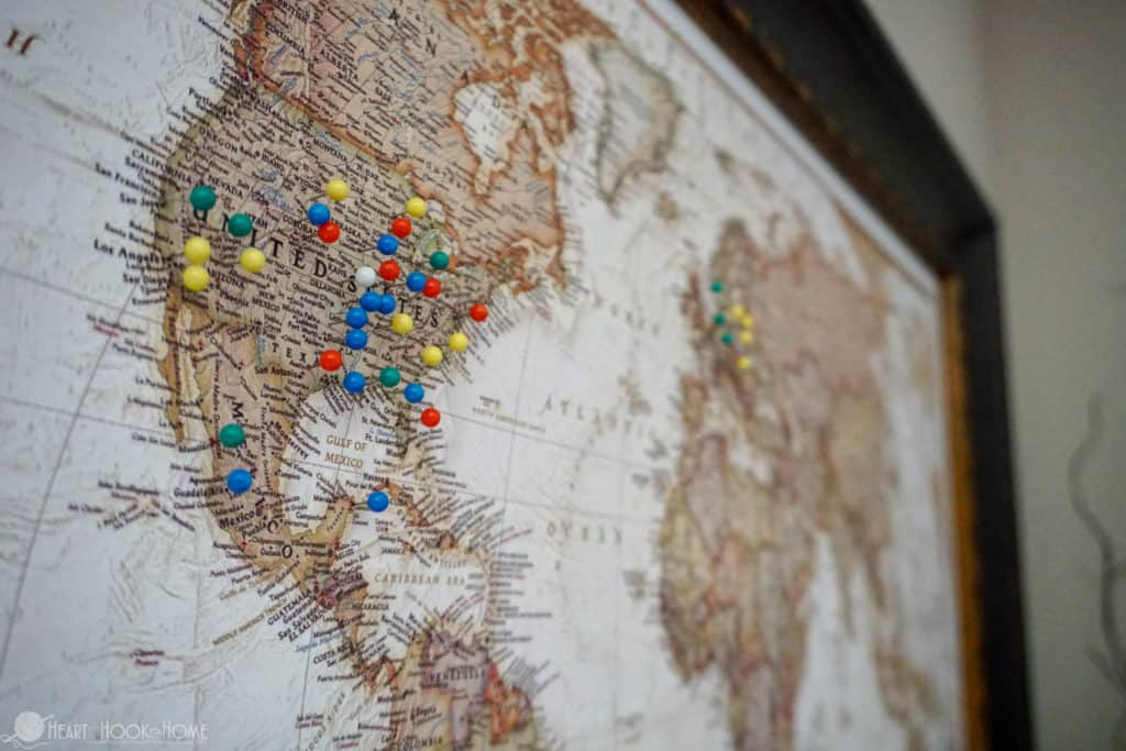 World Map Travel Pins.Inexpensive Easy Diy World Travel Map With Push Pins Tutorial
