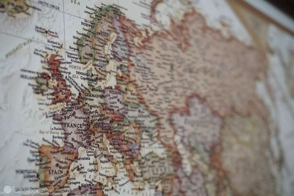 Travel map of Europe