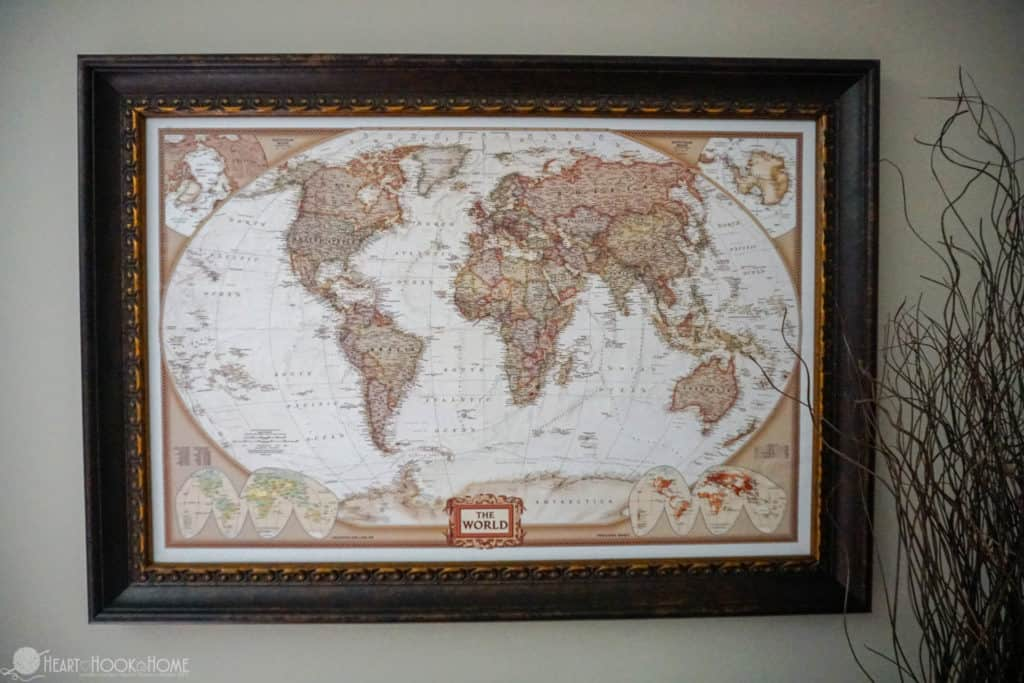 Inexpensive & Easy DIY World Travel Map with Push Pins Tutorial