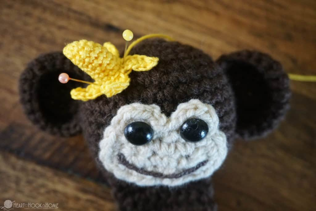 Banana on Monkey Head Bookmark