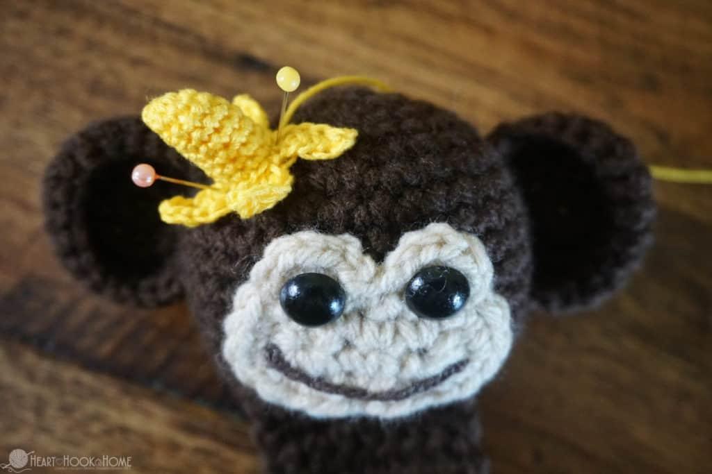 Banana on Monkey Head Bookmark