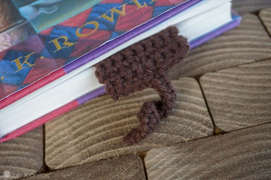 Tail on Monkey Bookmark Pattern