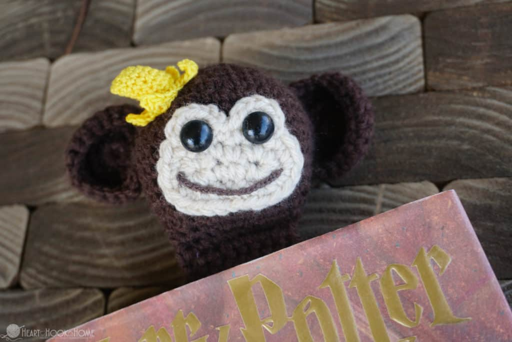 Adorable Monkey Bookmark pattern