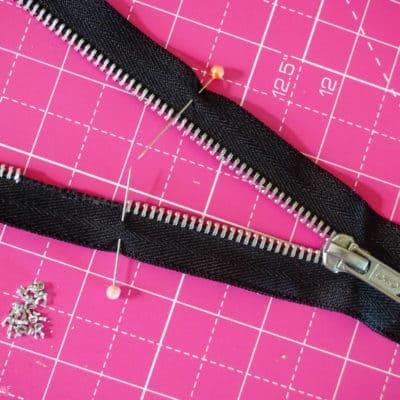 How to Shorten a Zipper with Metal Teeth