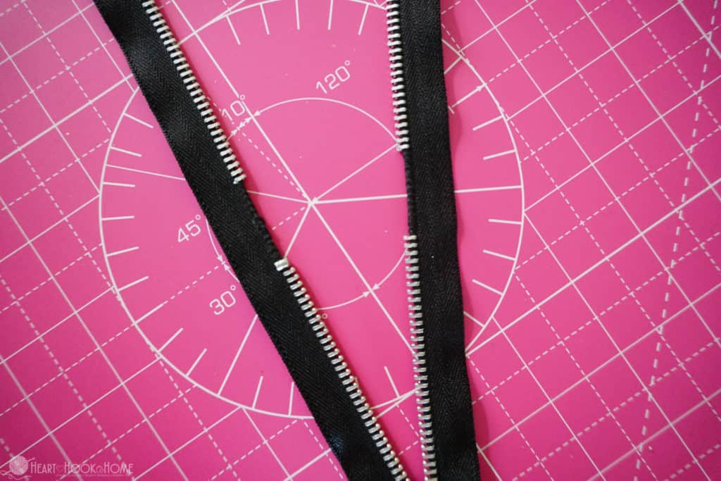 Tips for shortening a zipper with metal teeth