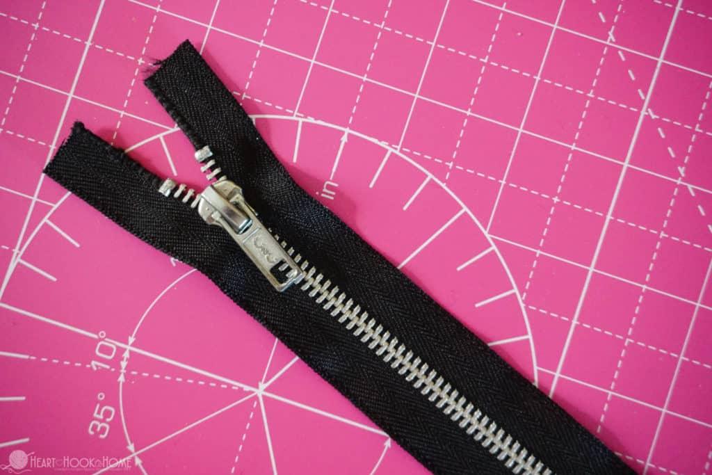 Zipper shortening tutorial
