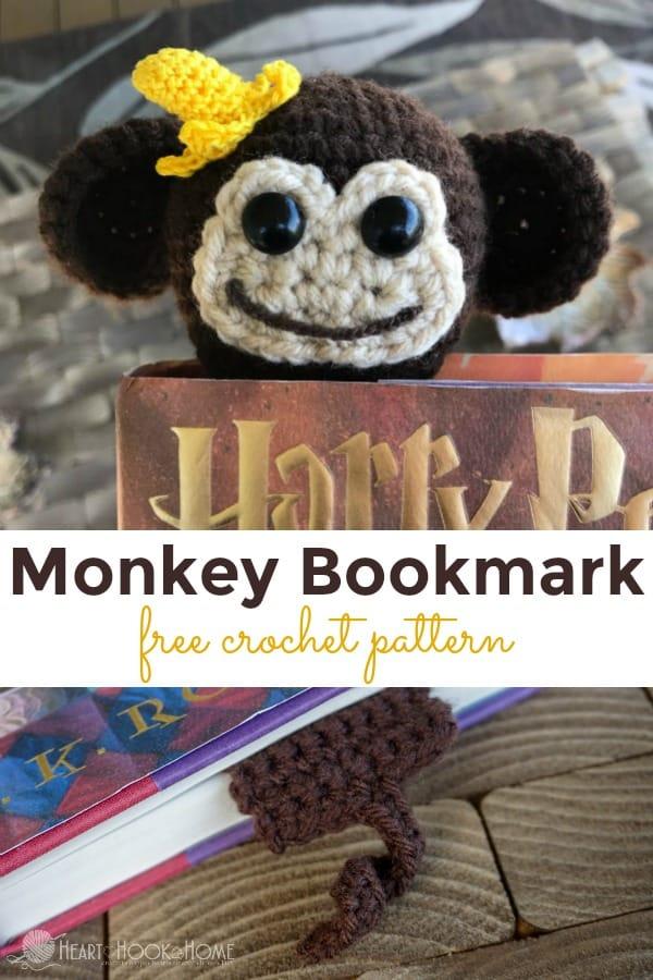 Monkey Bookmark Crochet Patter