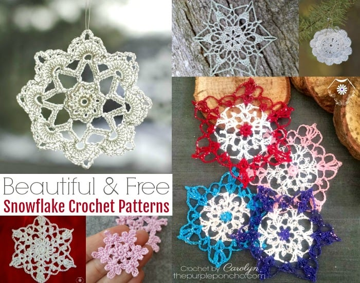 12 Beautiful Free Snowflake Crochet Patterns