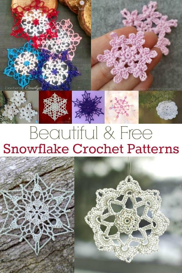 12 Beautiful Free Snowflake Crochet Patterns