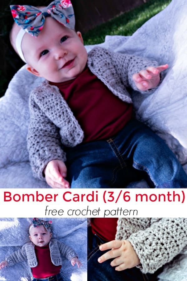 Kids sizes Bomber Cardi