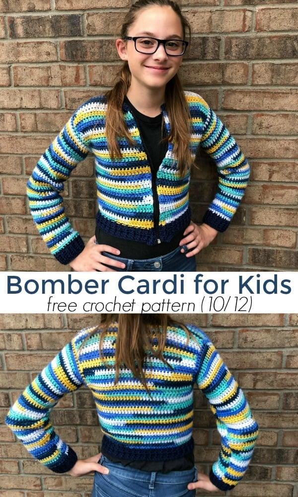 Bomber Cardi for Kids 10-12