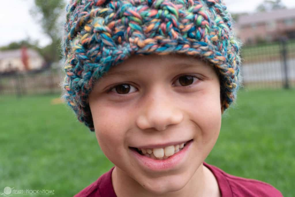 The Cameron Beanie Child Size Beanie Crochet Pattern