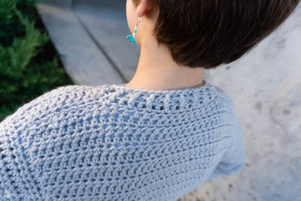 How to crochet a kids 12/14 Bomber Cardi