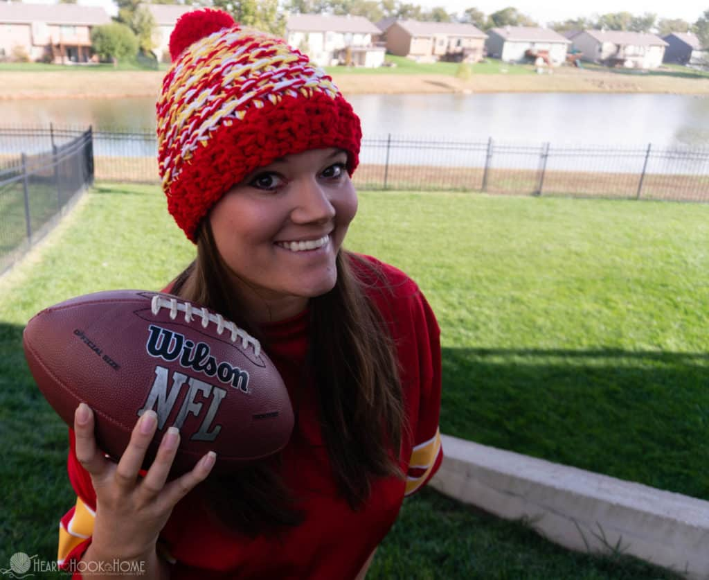 Team Spirit Beanie Crochet Pattern