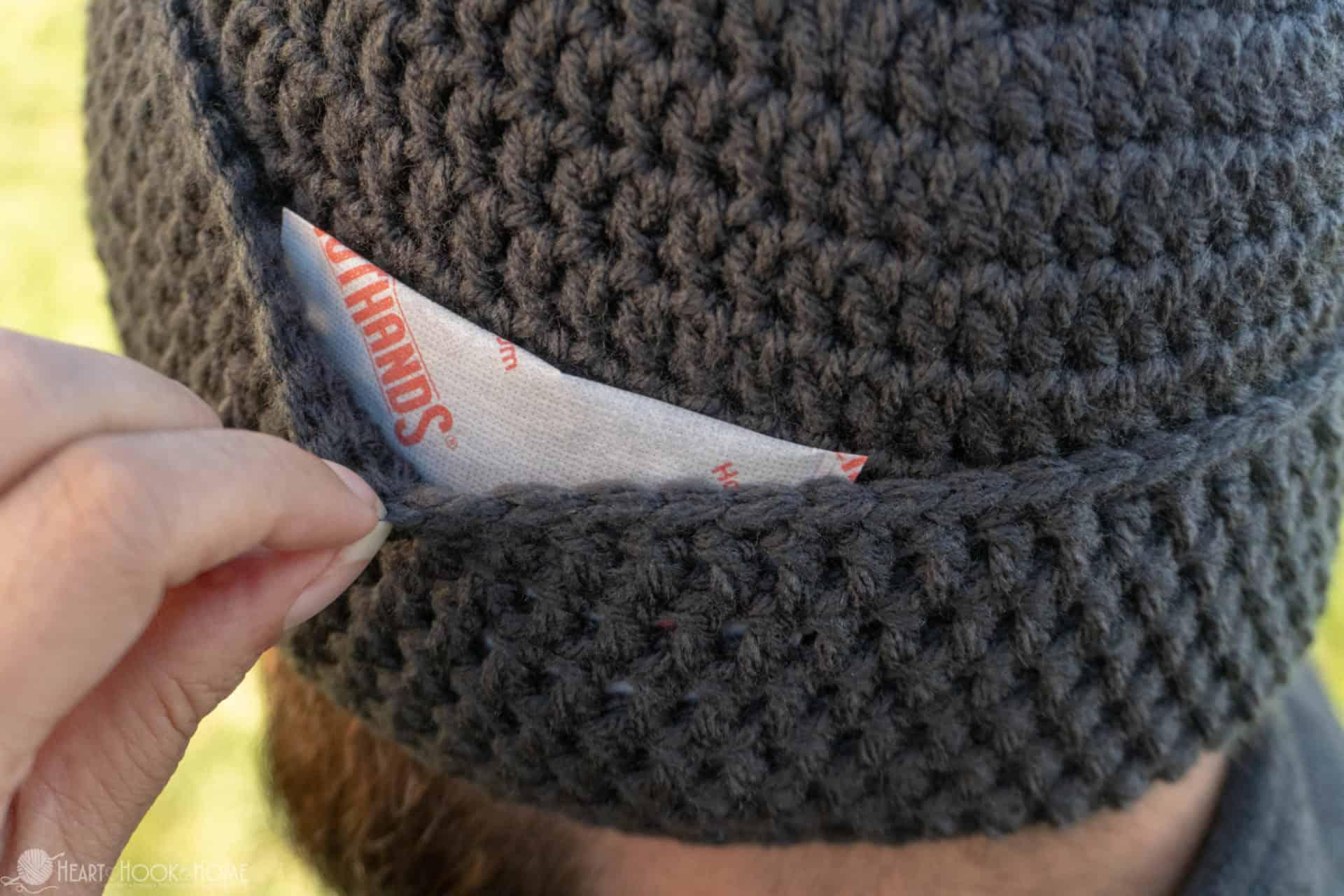17bda5e27e7 Hand Warmer Beanie  Crochet Beanie with Hand Warmers