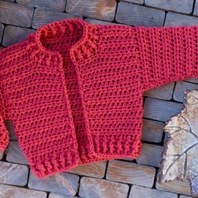 Infant Bomber Cardi Crochet Pattern (12 month)