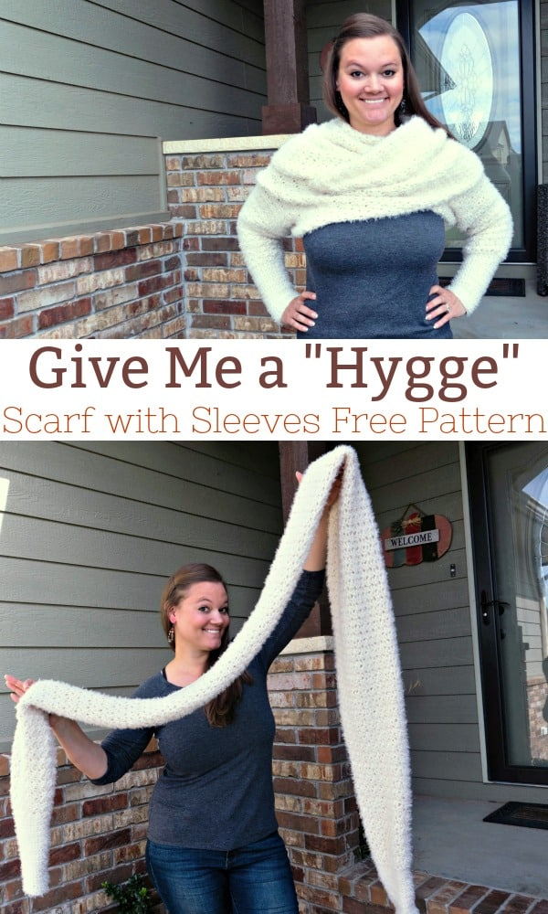 Give me a Hygge Scarf with Sleeves