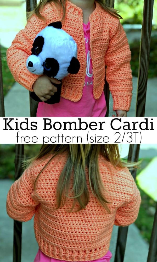 Bomber Cardigan for Kids, Size 2/3T