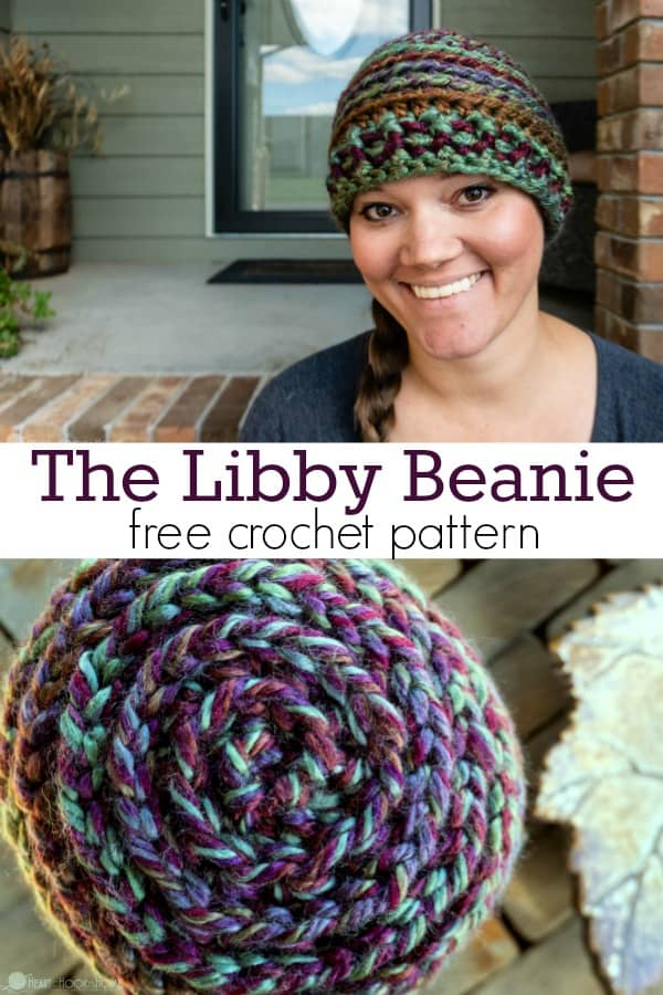 The Libby Quick Cute Super Chunky Adult Size Beanie Pattern