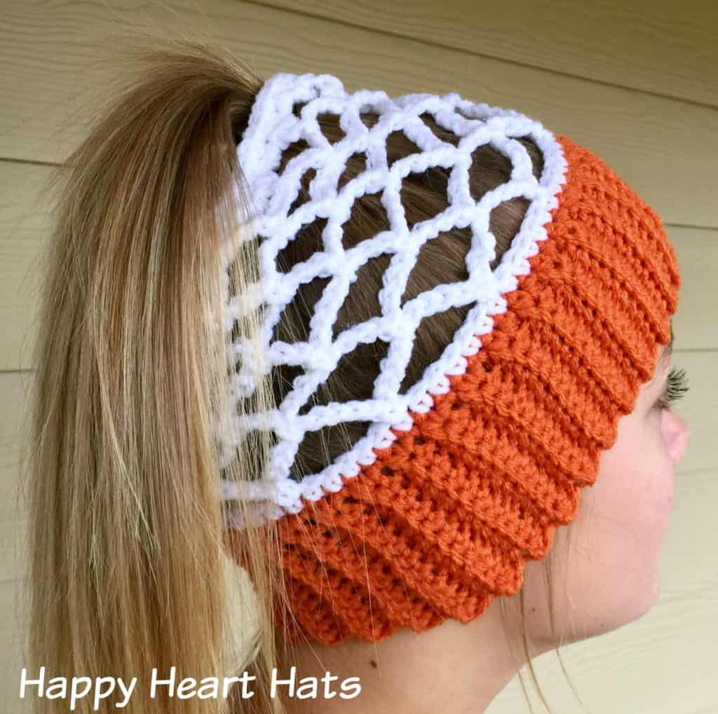 Basketball net hat pattern