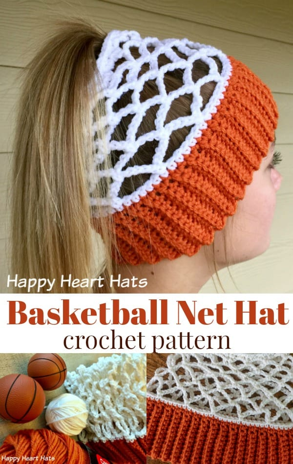 Basketball Net Hat Crochet Pattern